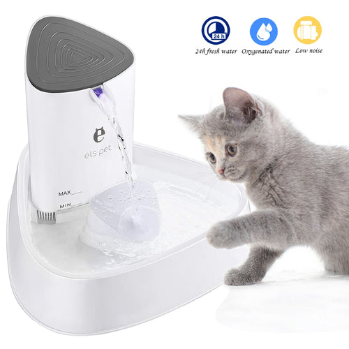 1.8L Cat Water Fountain Quiet Automatic Pet Water Dispenser