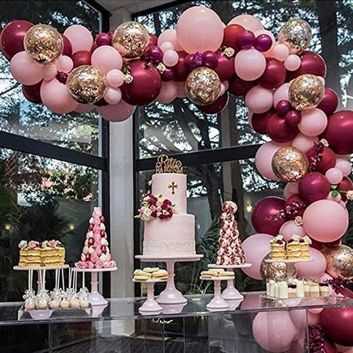 110pcs Balloons Pink Gold Confetti Balloons Garland Arch