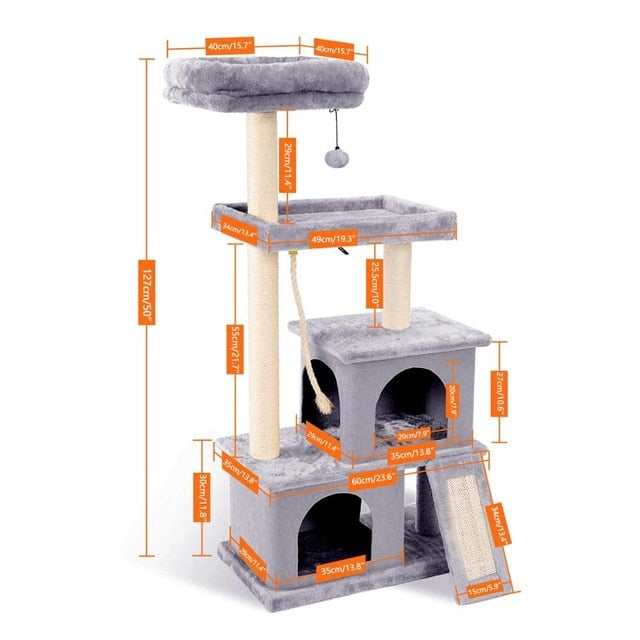 Cat's Tree Tower Condo Scratcher Home Furniture Pets House