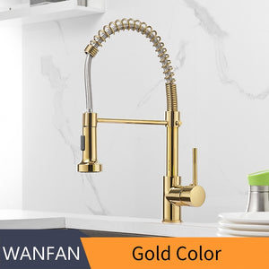 Kitchen Faucets Brush Brass Faucets for Kitchen Sink