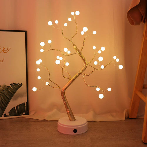 108 LED USB 3D Table-Lamp Copper Wire Christmas Fire Tree