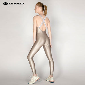 Infinity Jumpsuit  Wet Look Women Yoga  Sports Pants