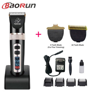 Baorun P9 Clipper Dogs Professional LCD Screen Pet Cat