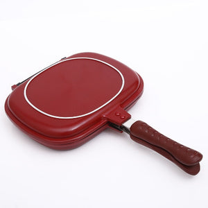 1PC Double-sided grill frying pan square shape non-stick pan