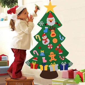 Kids DIY Felt Christmas Tree Christmas Decoration