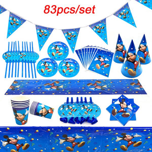 83Pcs Disney Frozen Theme Cup Plate Napkin Kid