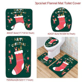 Christmas Bathroom Toilet Mat Navidad 2020 Merry Christmas