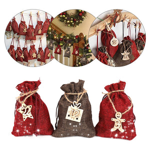DIY Numbers Bag Christmas Advent Calendar Ornament Christmas