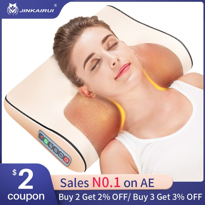 Infrared Heating Neck Shoulder Back Body Electric Massage Pillow