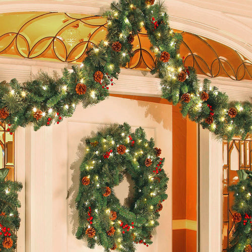 Christmas Garland Wreath Artificial Rattan Garland Christmas