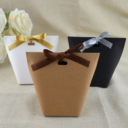 50pcs Blank Kraft Paper Bag White Black Candy Bag
