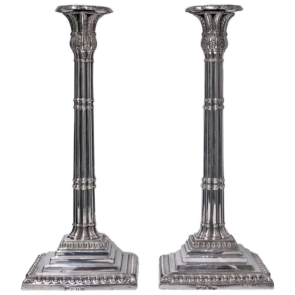 18th Century Georgian Silver Candlesticks London 1759 John Carter
