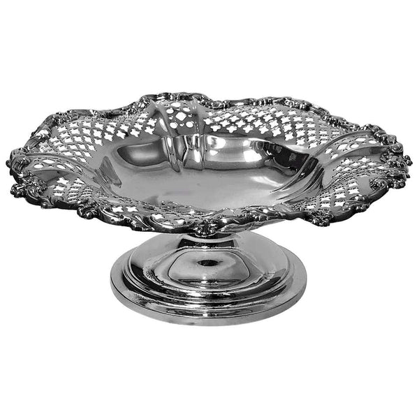 Gorham Sterling Compote Bowl on Pedestal Foot, Gorham Date Symbol Mark 1908