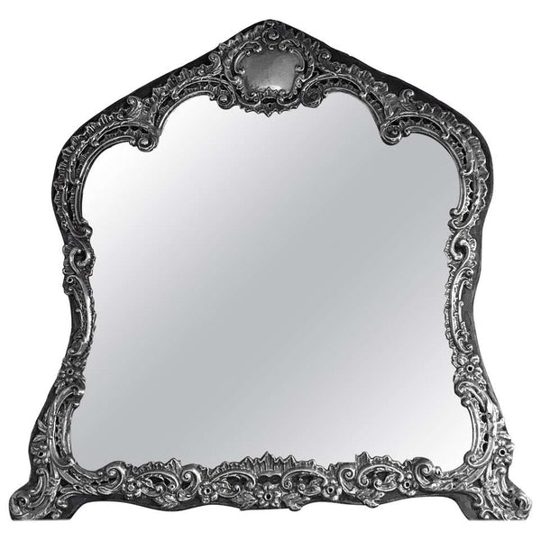 Antique English Sterling Dressing Table Mirror, Birmingham 1898 H. Matthews