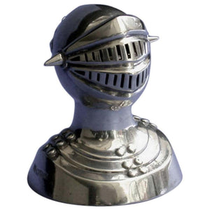 Novelty Silver Pepper Caster of a Knight in Armour, Chester, 1908