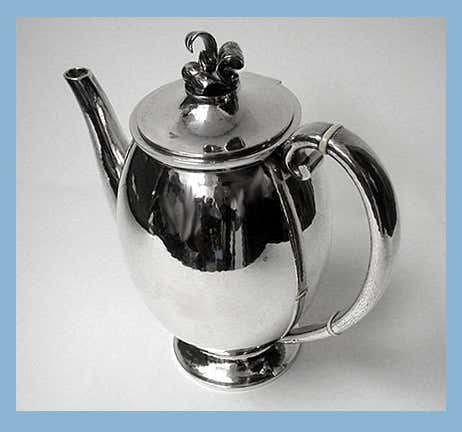 Evald Nielsen Danish Sterling Silver Coffee Service, circa 1930