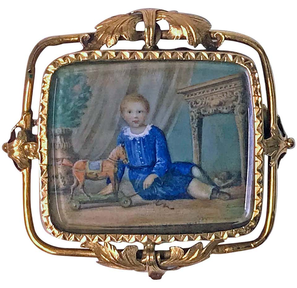 Swiss Gold Painted Miniature C.1800 attributed Anton Graff.