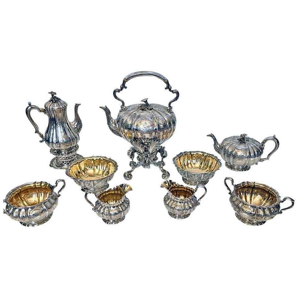 Magnificent Silver Tea and Coffee Service, Garrard & Co, London, 1839