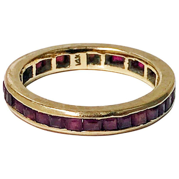 1940s Gold and Ruby Eternity Band