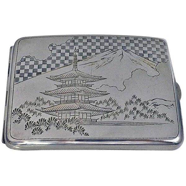 Fine Japanese 950 Silver Box Case, circa 1920