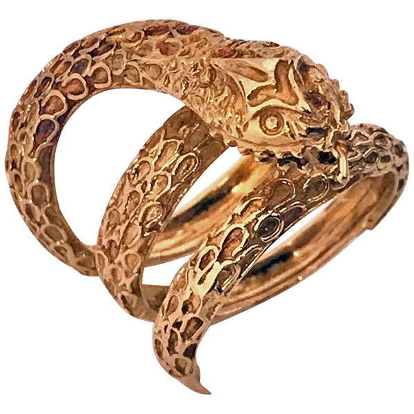 Lalaounis 18 Karat Gold Snake Serpent Ring, 1960s