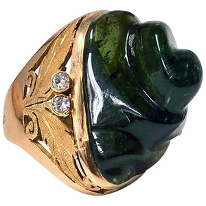 Burle Marx Attributed Green Tourmaline Ring, 1960s