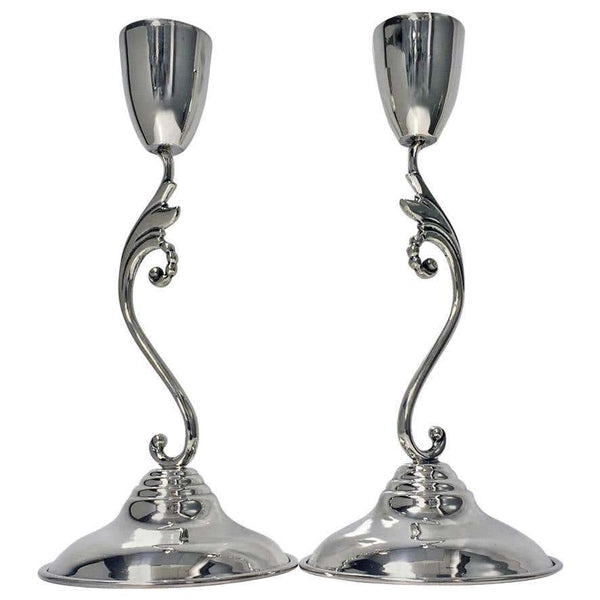 Pair of Mid-Century Sterling Silver Candlesticks, Mexico, circa 1960 by Perlita