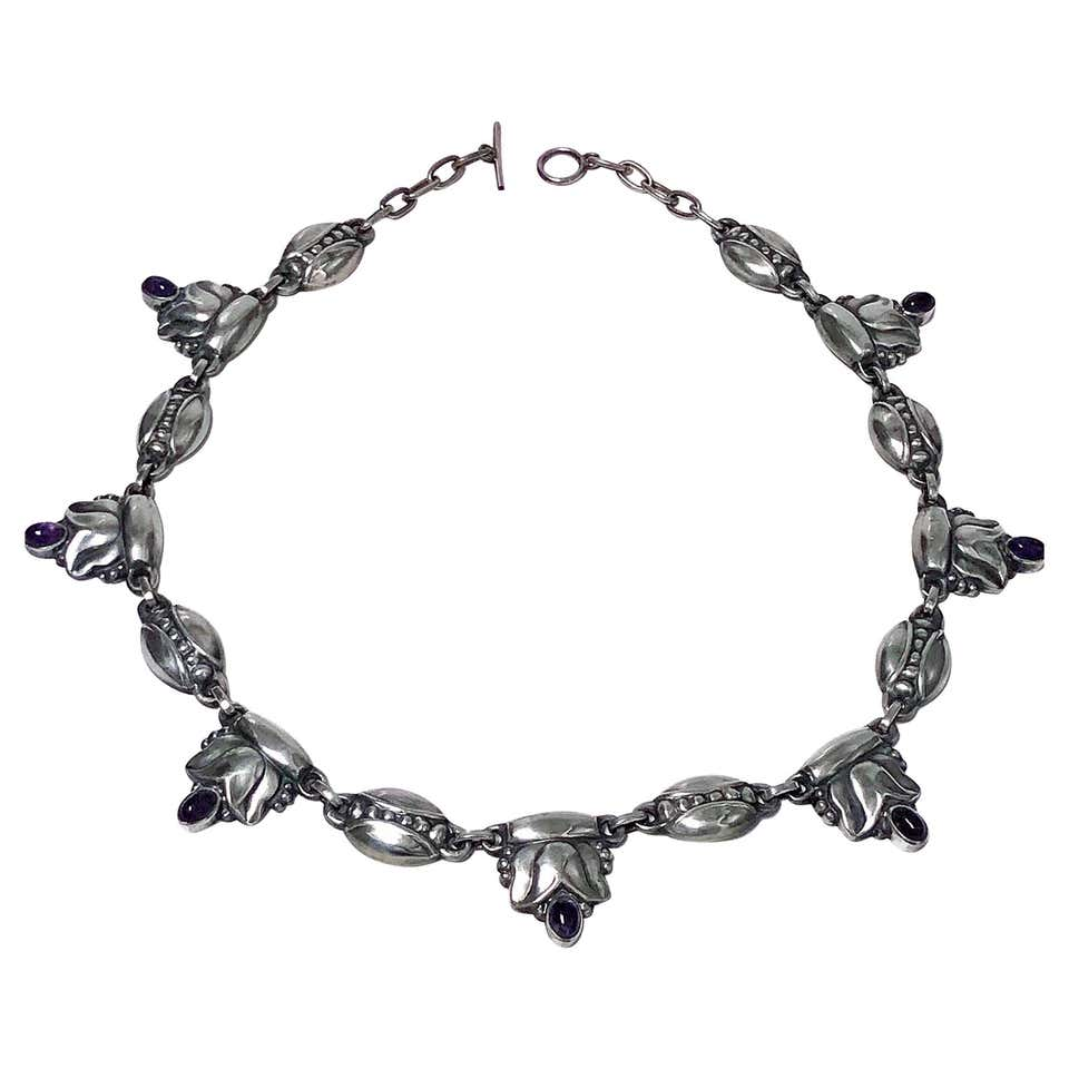 Georg Jensen Sterling Amethyst Necklace, circa 1935
