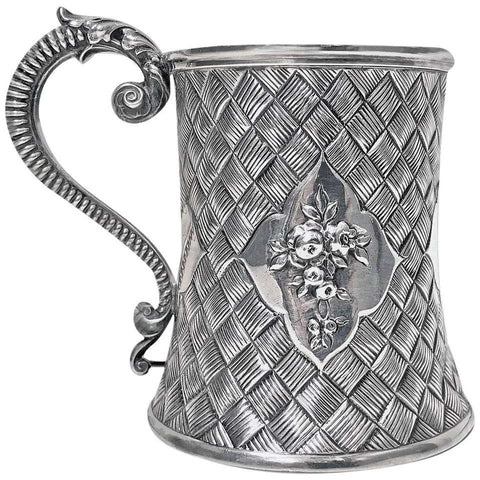 Antique Silver Mug, London 1863 by Robert Harper