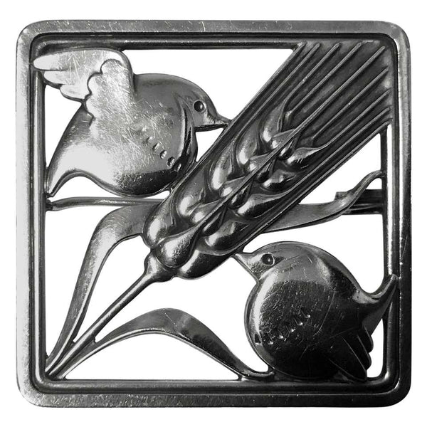 Georg Jensen Sterling Silver Birds Brooch 1933-1944