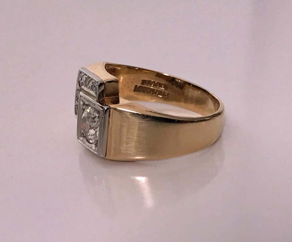 1970s Gold Diamond Ring