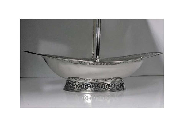 Georgian Silver Cake Basket, London 1796, Possibly Thomas Chawner