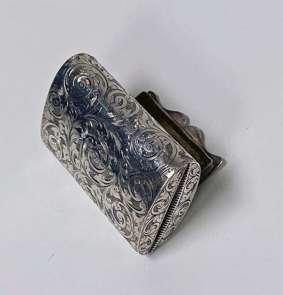 Rare Silver Vesta in form of clutch Purse Birmingham 1892 Thomas Hayes