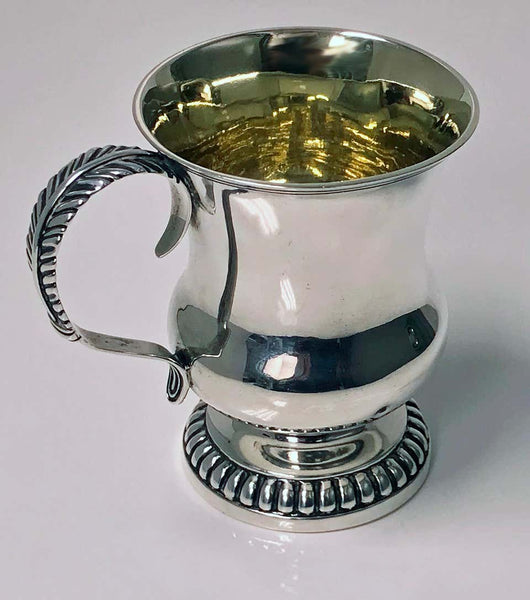 Scottish Aberdeen Georgian Provincial Silver Mug Tankard, George Booth, circa 1810-1820