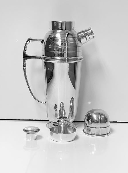 Art Deco Sterling Silver Cocktail Shaker, Birmingham 1913 Pearce & Sons