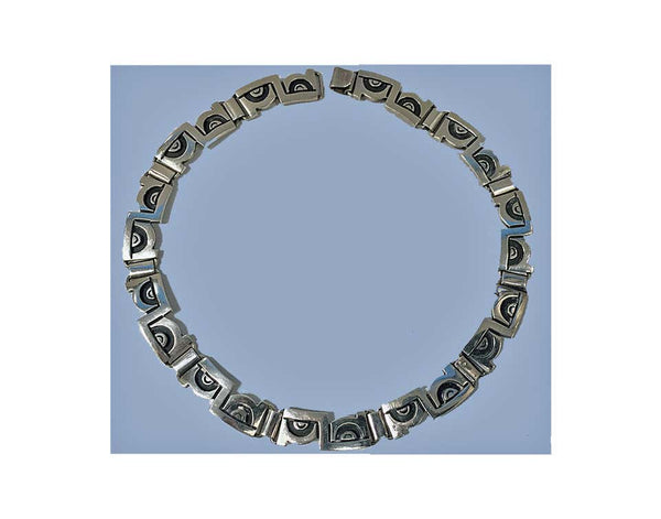 1970s Jose Luis Flores Mexico Sterling Necklace