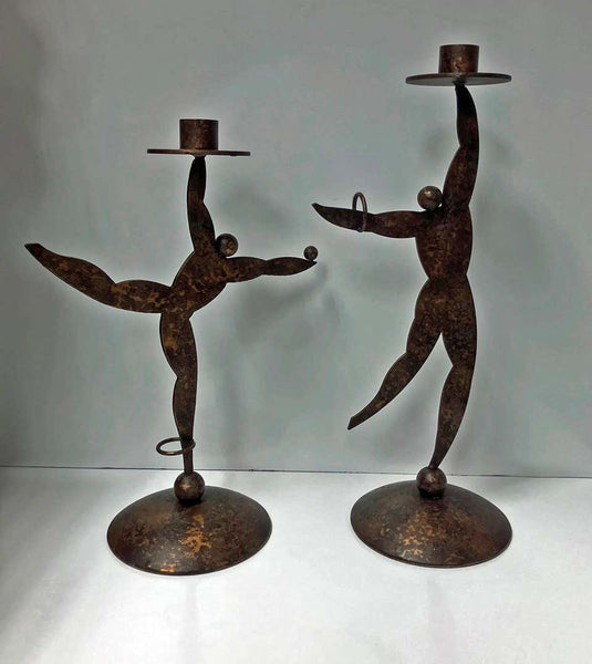 1950s Hagenauer Style Candleholders in the Form of Dancers