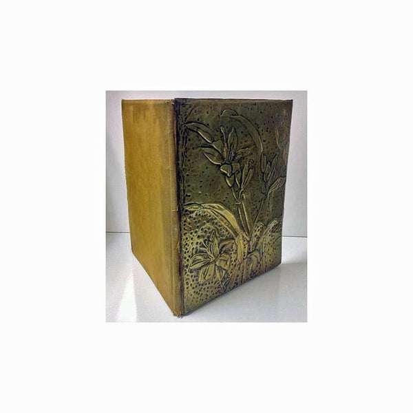 Art Nouveau Brass Writing Desk Letter Portfolio Blotter Holder, circa 1900