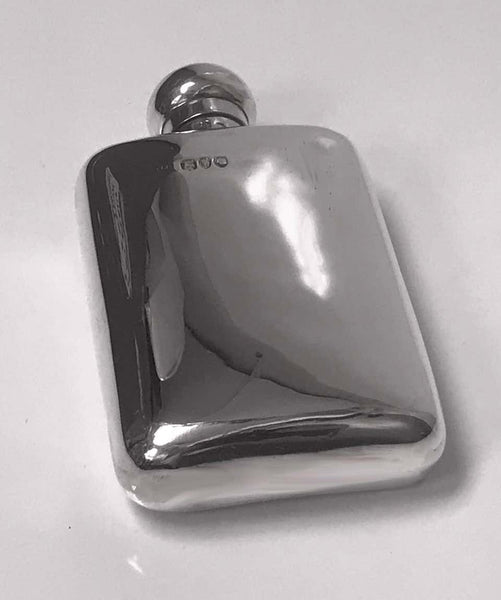 English Sterling Silver Flask, London 1891 W&G Neal