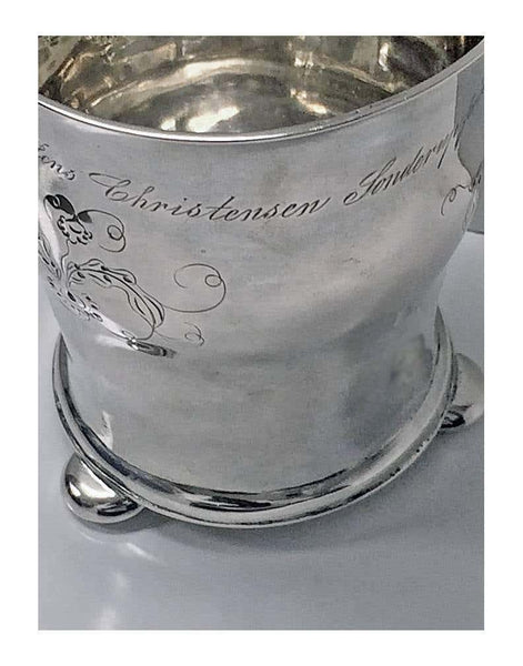 Antique Scandinavian Silver Beaker, circa 1852