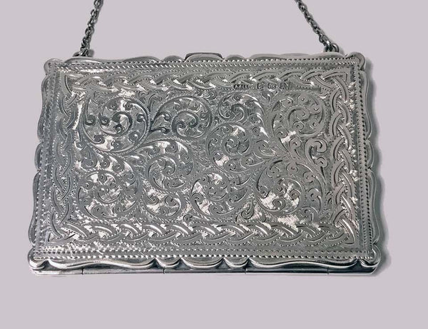 Antique Silver Card Case, Birmingham 1910, Adie and Lovekin