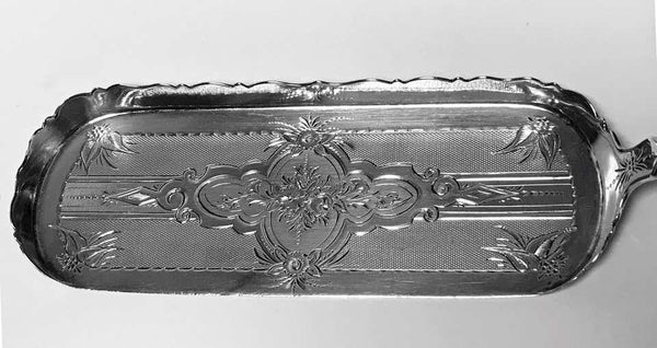 William Gale American Sterling Silver Crumber Scoop Slice, C.1860