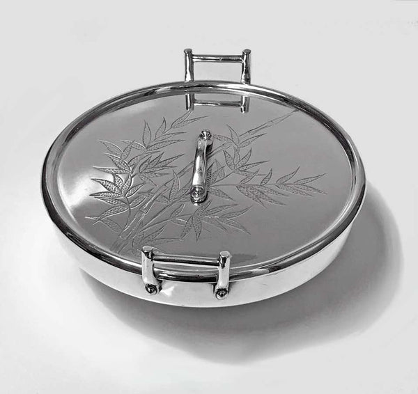 Hukin and Heath Dresser Inspired Silver Plate Japanesque Bowl, circa 1885