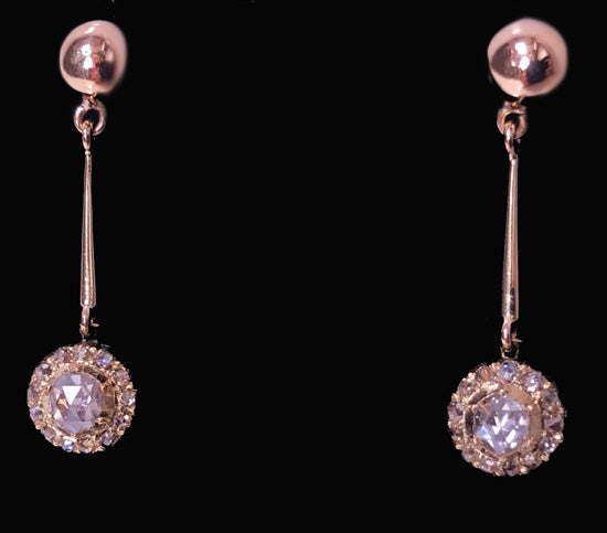 Pair of Antique Diamond Earrings, C.1920