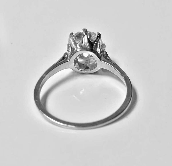Old Cut Diamond Solitaire Ring, circa 1920