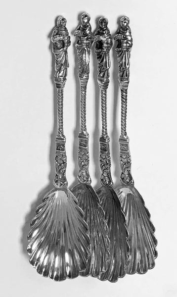 Set of Four Antique Silver Apostle Spoons Edward Hutton London, 1888