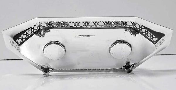 Antique English Silver and Enamel Inkstand Hallmarked 1910-1911 by Manoah Rhodes