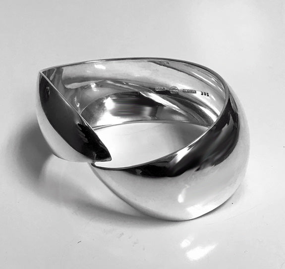 Georg Jensen Sterling Cuff Bangle Bracelet C.1970