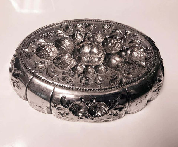 Antique Silver Parcel Gilt Fruit Dish, Germany, circa 1880
