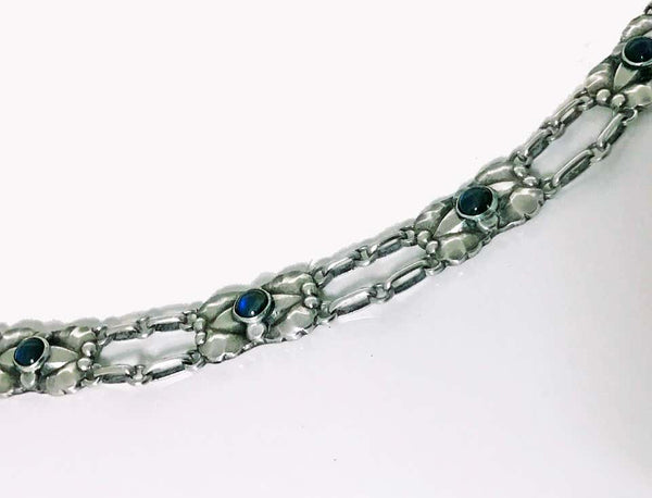 Georg Jensen Silver Labradorite Necklace circa 1915-1930 No 2